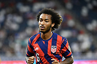 KANSAS CITY, KS - JULY 15: Gianluca Busio #6 of the United States during a game between Martinique and USMNT at Children's Mercy Park on July 15, 2021 in Kansas City, Kansas.