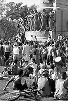 Montreal (Qc) CANADA - June 2000<br /> -File Photo -<br /> Every sunday of the summer people gather at the foot of Mont-Royal to dance and listen to tam-tam music.