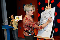 To celebrate the kick-off of the 30th annual TD Canadian Children's Book Week, children at the Lorraine Kimsa Theatre for Young People get a special treat with a reading from Franklin in the Dark by the author Paulette Bourgeois and illustrator Brenda Clark. This is the duo's final appearance with the beloved turtle (CNW GROUP/TD BANK FINANCIAL GROUP).