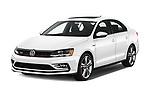 2017 Volkswagen Jetta GLI 4 Door Sedan Angular Front stock photos of front three quarter view