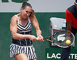 Jelena Jankovic (SRB) defeats Sorana Cirstea (ROU) 6-1, 6-2 at  Roland Garros being played at Stade Roland Garros in Paris, France on May 31, 2014