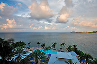 Sunrise clouds from room at Marriot Hotel. St. Thomas. US Virgin Islands.