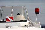 A rescue dive boat