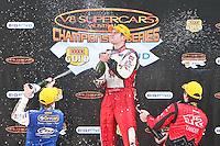 Podium Celebrations at Sydney's Eastern Creek Raceway, Round 2 of the 2008 V8 SUpercar Championship Series
