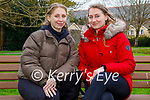 Enjoying a chat after their walk in the Tralee town park on Sunday, l to r: Adelina Nikonajebi and Ralinta Kaletkaite.