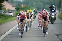 Sean De Bie (BEL/Lotto-Soudal) & Tiesj Benoot (BEL/Lotto-Soudal) up front<br /> <br /> Heistse Pijl 2016