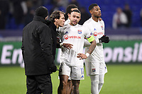 COLERE - ALTERCATION - SUPPORTERS - INCIDENTS - 11 MEMPHIS DEPAY (OL) - RUDI GARCIA (ENTRAINEUR LYON)<br /> Lione 10-12-2019 <br /> Lyon vs Leipzig <br /> Champions League 2019/2020<br /> Photo Anthony Bibard / Panoramic / Insidefoto <br /> Italy Only