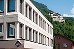 LGT Bank, Castle of Vaduz, Schloss Vaduz, Rheintal, Rhine-valley, Liechtenstein.