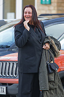 Pictured: PC Erica Ray leaves after the hearing held in Bridgend, south Wales, UK. Friday 25 January 2019<br /> Re: Police officer Erica Ray sent a picture of a young child with photoshopped adult male genitals to colleagues in a WhatsApp group, a misconduct panel has heard in Bridgend, Wales, UK.<br /> Constable Erica Ray, who works for South Wales Police sent the image as part of an ongoing joke at the expense of another officer's height, a police misconduct panel heard.<br /> The picture caused offence to some officers in the group who deleted the picture from their own devices and later referred the matter to their supervisors.<br /> The behaviour amounted to discreditable conduct said presenting counsel for South Wales Police, Jonathan Walters.<br /> PC Ray had been working in the management of sex offenders and violent offenders team at Cardiff Bay police station when the incident occurred on December 15, 2017.
