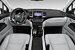 Stock photo of straight dashboard view of 2018 Honda Pilot Touring 5 Door Suv Dashboard