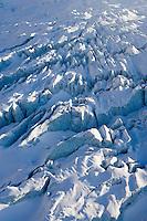 Europe/France/Rhone-Alpes/74/Haute-Savoie/ env de Chamonix et Megève : le massif du Mont-Blanc Vue Aerienne - Le Glacier des Bossons