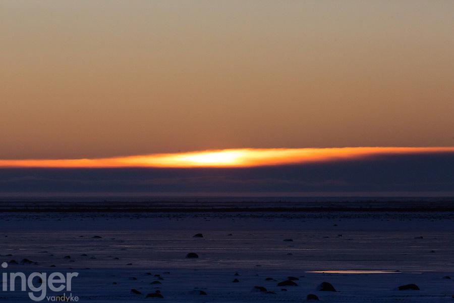 Sunrise at the Tundra Buggy Lodge