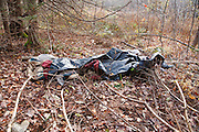 """Poor """"Leave No Trace"""" habits in Sandwich Notch in the White Mountains of New Hampshire USA."""
