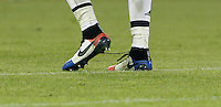Calcio, Champions League: Gruppo D - Juventus vs Manchester City. Torino, Juventus Stadium, 25 novembre 2015. <br /> Juventus' Paul Pogba wears shoes bearing colors of the French flag during the Group D Champions League football match between Juventus and Manchester City at Turin's Juventus Stadium, 25 November 2015. <br /> UPDATE IMAGES PRESS/Isabella Bonotto