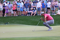 14th March 2021; Ponte Vedra Beach, Florida, USA;  Jon Rahm of Spain lines up a putt on the 2nd hole during the final round of THE PLAYERS Championship on March 14, 2021 at TPC Sawgrass Stadium Course in Ponte Vedra Beach, Fl.