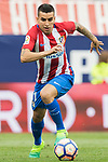 Aymeric Laporte (L)  of Athletic Club fights for the ball with Angel Correa (R) of Atletico de Madrid during their La Liga match between Atletico de Madrid vs Athletic de Bilbao at the Estadio Vicente Calderon on 21 May 2017 in Madrid, Spain. Photo by Diego Gonzalez Souto / Power Sport Images