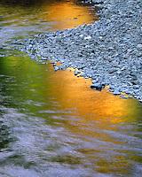 Reflection in Collawash River in Clackamas County, Oregon