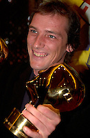 September 7,  2003, Montreal, Quebec, Canada<br /> <br /> GAZ BAR BLUES, the new film by Montreal director Louis BÈlanger <br />  Belanger receive the Special Grand Prize of the Jury and also the OECUMNICAL AWARD for his movie, based on his father's life and values.<br /> <br /> <br /> <br /> The Festival runs from August 27th to september 7th, 2003<br /> <br /> <br /> Mandatory Credit: Photo by Pierre Roussel- Images Distribution. (©) Copyright 2003 by Pierre Roussel <br /> <br /> All Photos are on www.photoreflect.com, filed by date and events. For private and media sales