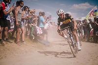 Yves Lampaert (BEL/Quick-Step Floors) on pavé sector #2<br /> <br /> Stage 9: Arras Citadelle > Roubaix (154km)<br /> <br /> 105th Tour de France 2018<br /> ©kramon