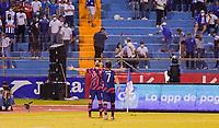 SAN PEDRO SULA, HONDURAS - SEPTEMBER 8: Sebastian Lletget #17 of the United States scores and celebrates after a game between Honduras and USMNT at Estadio Olímpico Metropolitano on September 8, 2021 in San Pedro Sula, Honduras.
