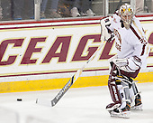 Brad Barone (BC - 29) - The Boston College Eagles defeated the visiting University of Wisconsin Badgers 9-2 on Friday, October 18, 2013, at Kelley Rink in Conte Forum in Chestnut Hill, Massachusetts.