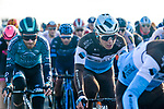 The peloton including Benoit Cosnefroy (FRA) AG2R La Mondial in action during Paris-Tours 2020, running 213km from Chartres to Tours, France. 11th October 2020.<br /> Picture: ASO/Gautier Demouveaux | Cyclefile<br /> All photos usage must carry mandatory copyright credit (© Cyclefile | ASO/Gautier Demouveaux)
