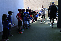 SAN JOSE, CA - FEBRUARY 29: San Jose Earthquakes goalkeeper JT Marcinkowski #18 during a game between Toronto FC and San Jose Earthquakes at Earthquakes Stadium on February 29, 2020 in San Jose, California.