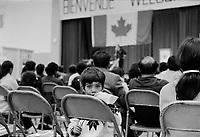 Acceuil des immigrants au canada<br /> , Novembre 1972 (date exacte inconnue)<br /> <br /> PHOTO : Agence Quebec Presse -  Alain Renaud
