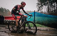 Michael Vanthourenhout (BEL/Pauwels Sauzen-Bingoal) splashing around<br /> <br /> Men's Race at the X2O Herentals Cross 2020 (BEL)<br /> <br /> ©kramon