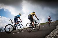 Carlos Verona (ESP/Movistar) & Wout van Aert (BEL/Jumbo - Visma) up the finish climb & the highest peak of the 2020 #TdF: the Col de la Loze (HC/2304m/21,5km @7,8%)<br /> <br /> Stage 17 from Grenoble to Méribel - Col de la Loze (170km)<br /> <br /> 107th Tour de France 2020 (2.UWT)<br /> (the 'postponed edition' held in september)<br /> <br /> ©kramon