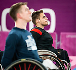 Vincent Daillaire, Lima 2019 - Wheelchair Basketball // Basketball en fauteuil roulant.<br /> Canada takes on the USA in the gold medal game in men's wheelchair basketball // Le Canada affronte les États-Unis dans le match pour la médaille d'or en basketball en fauteuil roulant masculin. 31/08/2019.