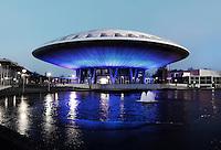 Evoluon in Eindhoven, verlicht met LED