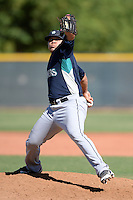 Seattle Mariners pitcher Ricky Claudio (49) during an instructional league game against the Kansas City Royals on October 2, 2013 at Surprise Stadium Training Complex in Surprise, Arizona.  (Mike Janes/Four Seam Images)
