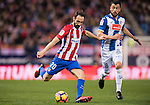 Juanfran of Atletico de Madrid in action during the La Liga match between Atletico de Madrid and RCD Espanyol at the Vicente Calderón Stadium on 03 November 2016 in Madrid, Spain. Photo by Diego Gonzalez Souto / Power Sport Images