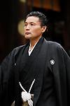 Takanohana, <br /> APRIL 17, 2017 - Sumo : Yasukuni Shrine Honozumo is a ceremonial annual sumo tournament held in the precincts of the Yasukuni Shrine in Tokyo, Japan. (Photo by Yohei Osada/AFLO SPORT)