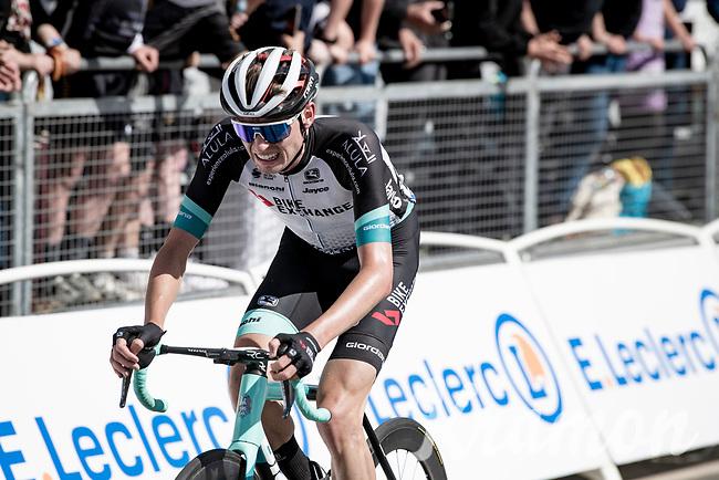 Lucas Ham)ilton (AUS/BikeExchange crossing the finish line<br /> <br /> Stage 2 from Perros-Guirec to Mûr-de-Bretagne, Guerlédan (184km)<br /> 108th Tour de France 2021 (2.UWT)<br /> <br /> ©kramon