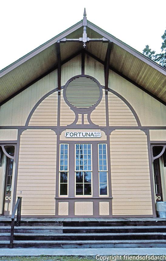 Fortuna CA:  Railroad Station.  Photo '83.