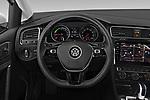 Car pictures of steering wheel view of a 2019 Volkswagen e-Golf Base 5 Door Hatchback