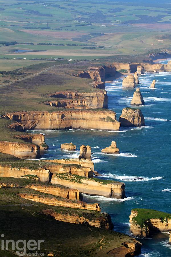 Aerial View of the Twelve Apostles, Victoria, Australia