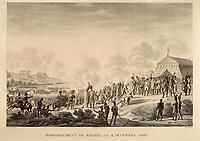Spain (1808). Peninsular War. Bombardment of Madrid (4th December 1808). Etching. SPAIN. Madrid. Municipal Museum.