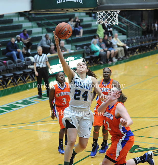 Tulane defeats Sam Houston State, 65-57, in round one of the Women's NIT, played at Devlin Fieldhouse.