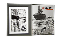 Recycle. Deluxe Collectors Edition. 25 copies. The book is in a handmade cloth bound box with an original inkjet print 20x29 cm. The print is a limited 25 editions of a picture which is part of the project, but not published in the book. Recycle was published in 2011 by Edizioni Casagrande (italian-german languages). 24x32 cm, 320 pages. Hard cover. 238 B&W Duplex. Photography Didier Ruef. Texts: Matthieu Ricard, Jean-Michel Cousteau, Bertrand Charrier. Carried out between 1991 and 2008 on the themes of waste and recycling, Didier Ruef captured a variety of situations which reveals the face of humanity behind the waste it produces, recycles or has to endure. The work of a committed photographer, which urge the reader to understand and act, more forcefully than conventional calls, to protect the environment. For centuries man has recovered and recycled the residues of his productive activities. Then came the era of waste as everyday companion. Our affluent societies are fueling the growing production of goods without taking into account the waste that generates in itself, becoming an industry whose purpose is its elimination. Today, faced with demographic and economic growth and the increasing fragility of the ecosystems, it is no longer possible to bury our refuse and toxic waste with the illusion that we have disposed of it forever, that it has been irreversibly sterilised. © 2011 Didier Ruef