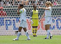 LA Sol goalkeeper Karina LeBlanc. The LA Sol defeated FC Gold Pride of the Bay Area 1-0 at Home Depot Center stadium in Carson, California on Sunday April 19, 2009.  ..  .
