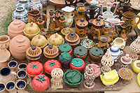 Garyan, Jebal Nefusa, Libya - Pottery Market, Ceramics, Pots, Vases