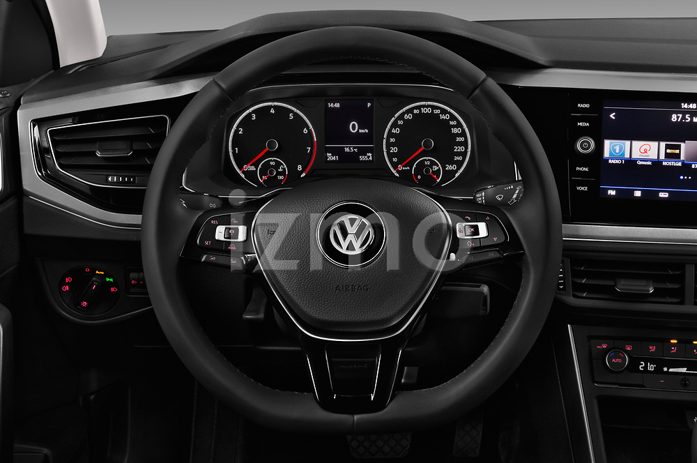 Car pictures of steering wheel view of a 2018 Volkswagen Polo High Line 5 Door Hatchback