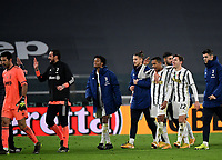Football Soccer: Tim Cup Semi Finals second leg Juventus vs InternazionaleMilan, Allianz Staium Stadium in Turin, on February 9, 2021.<br /> Juventus' players celebrate after the Italian Tim Cup Semi Final match between Juventus vs InterMilan at Allianz Stadium in Turin, on February 9, 2021.<br /> Juventus reaches the Tim Cup Final.<br /> UPDATE IMAGES PRESS/Isabella Bonotto