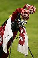 15 April 2006: A golf bag during the first round of the U.S. Intercollegiate presented by the Maple Fund at the Stanford Golf Course in Stanford, CA.