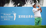 TAIPEI, TAIWAN - NOVEMBER 18:  Lu Chien Soon of Taiwan tees off on the 1st hole during day one of the Fubon Senior Open at Miramar Golf & Country Club on November 18, 2011 in Taipei, Taiwan.  Photo by Victor Fraile / The Power of Sport Images