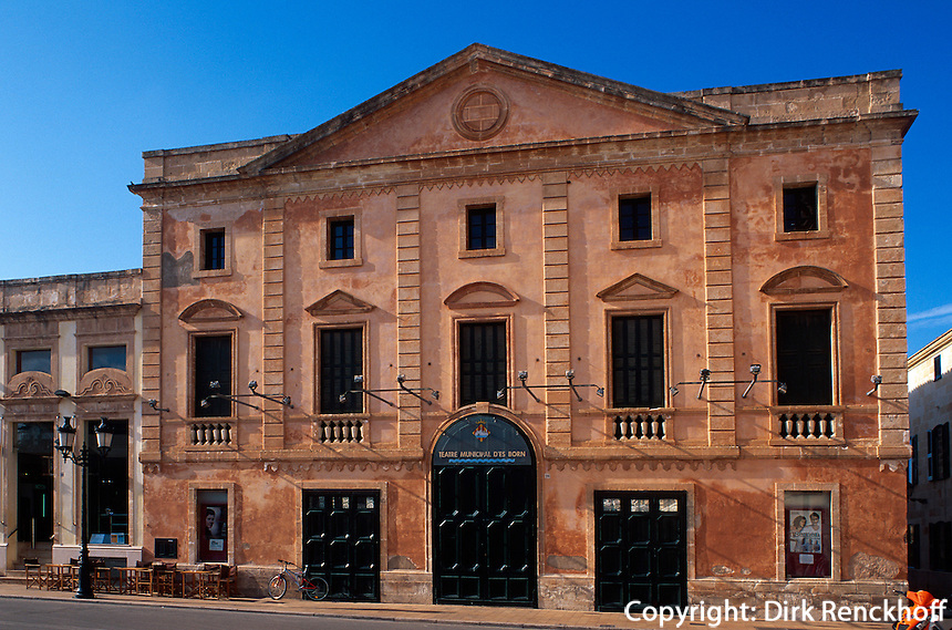 Spanien, Menorca, Theater Teatre Municipal in Ciutadella