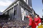 Japan Delegation (JPN), <br /> OCTOBER 7, 2016 :<br /> Japanese medalists of Rio 2016 Olympic and Paralympic Games wave to spectators during a parade from Ginza to Nihonbashi, Tokyo, Japan.<br /> (Photo by Yusuke Nakanishi/AFLO SPORT)